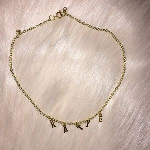 Jewelry - personalized name choker-KATIE/name necklace-KATIE